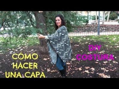 DIY COSTURA: Como hacer una CAPA - Patrones gratis | DIY How to make a CAPE - PONCHO (Free Pattern)