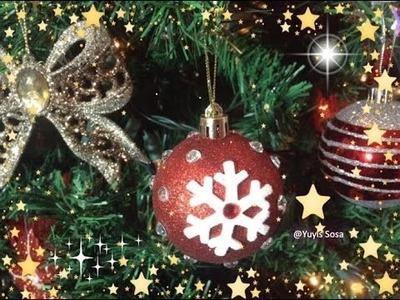 Diy Decoracion de Esferas recicladas para Pino de Navidad.by Itzomex