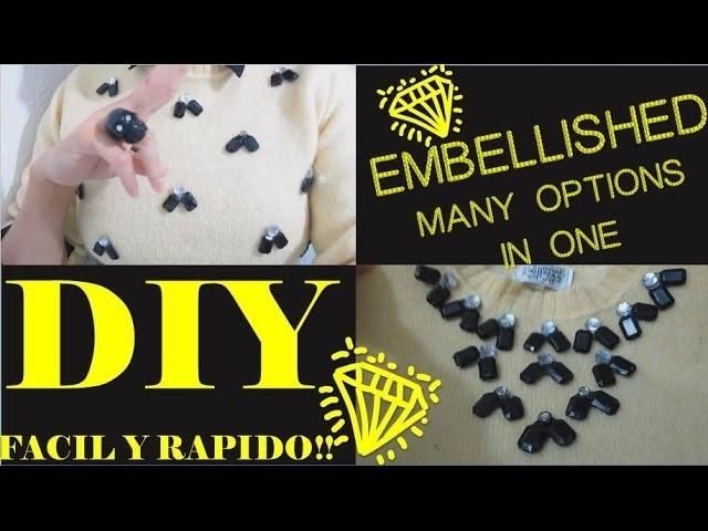DIY Pins DESPLEGABLES!!! para ropa embellished