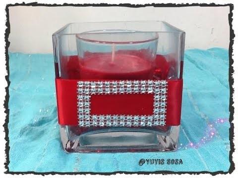 DIY Portavelas Santa Claus decoracion para Navidad . Christmas Candles.By Itzomex