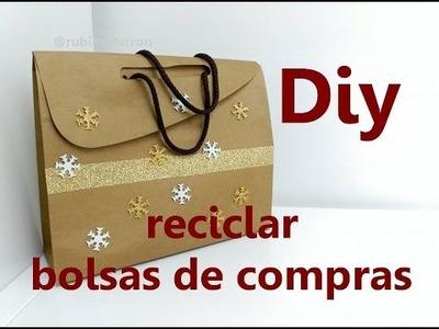 Diy. Reciclar bolsas regalo de tiendas