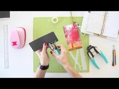Cómo hacer un marcapáginas para tu agenda o planner - TUTORIAL Scrapbook - DIY
