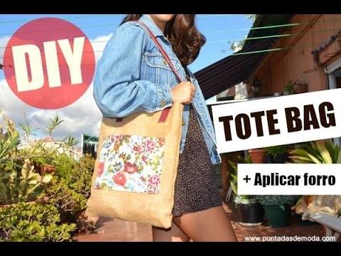 Como hacer un Tote Bag con forro | DIY
