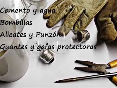 DIY Bombilla de Cemento