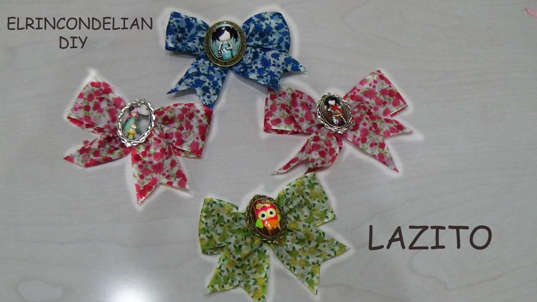 DIY-BROCHE DE LAZO Y GORJUSS