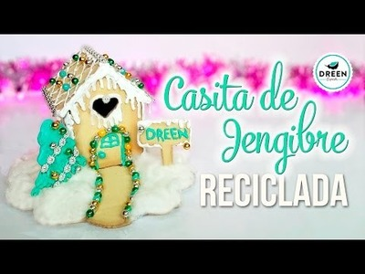 DIY Casita de jengibre reciclando cartón| DREEN NAVIDAD