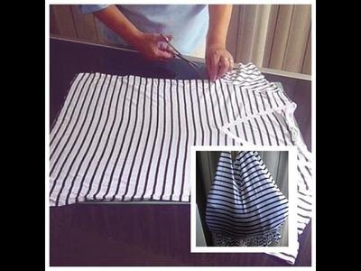 DIY: Crea un bolso con una camiseta!!