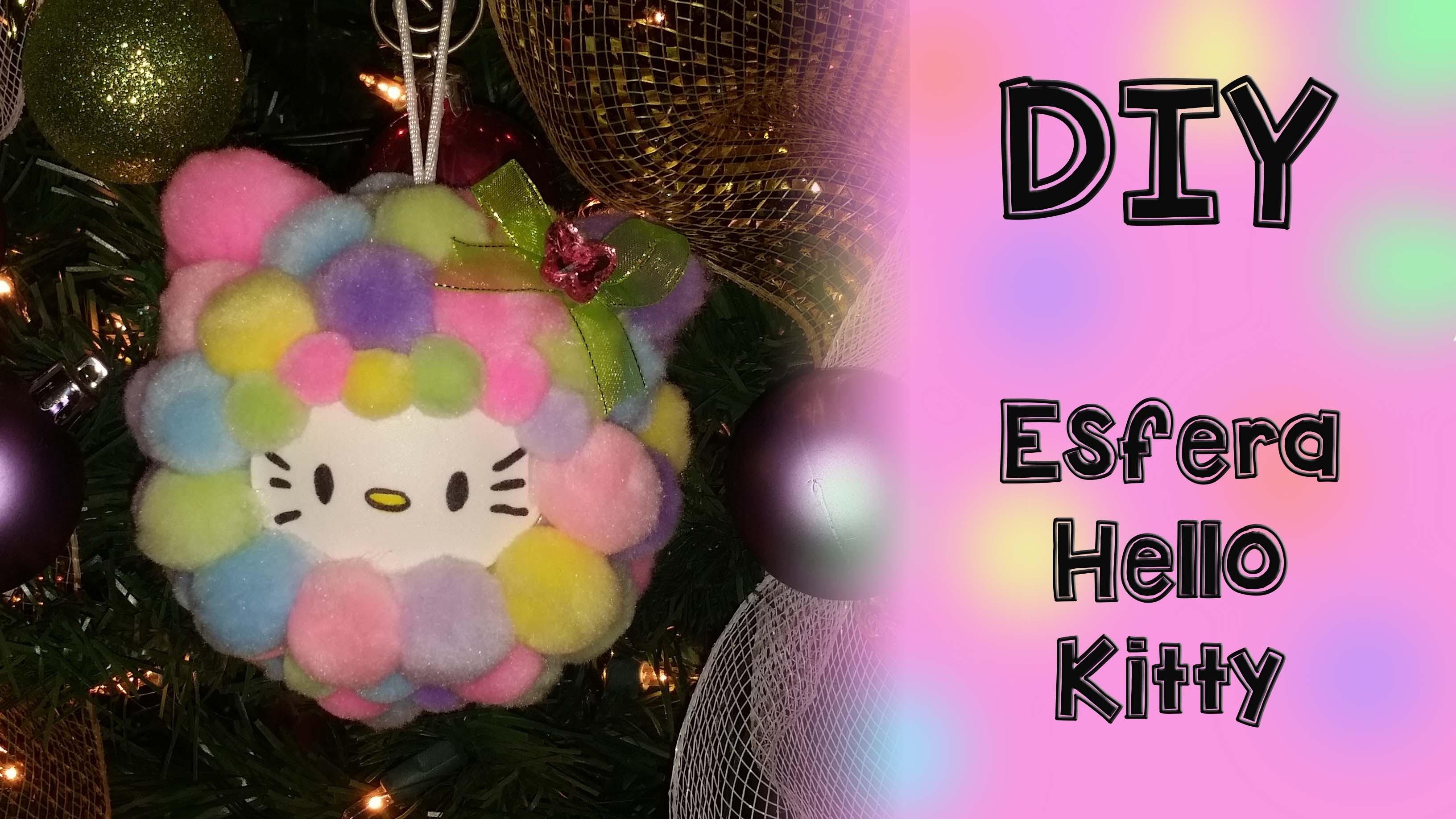 DIY- Esfera Hello Kitty Facil y Sencillas De Hacer