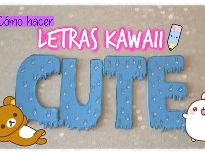 #DIY: ¡Cómo hacer letras kawaii para tu habitación! nwn
