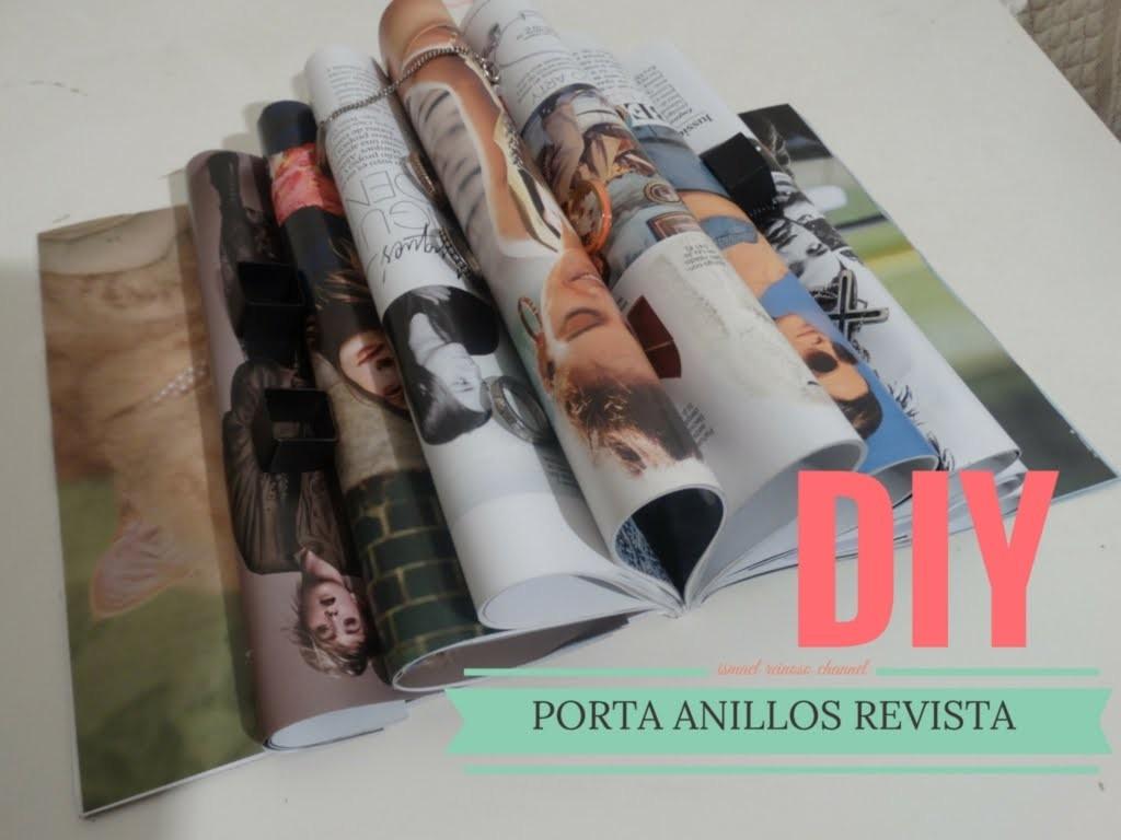 DIY PORTA ANILLOS DE REVISTA