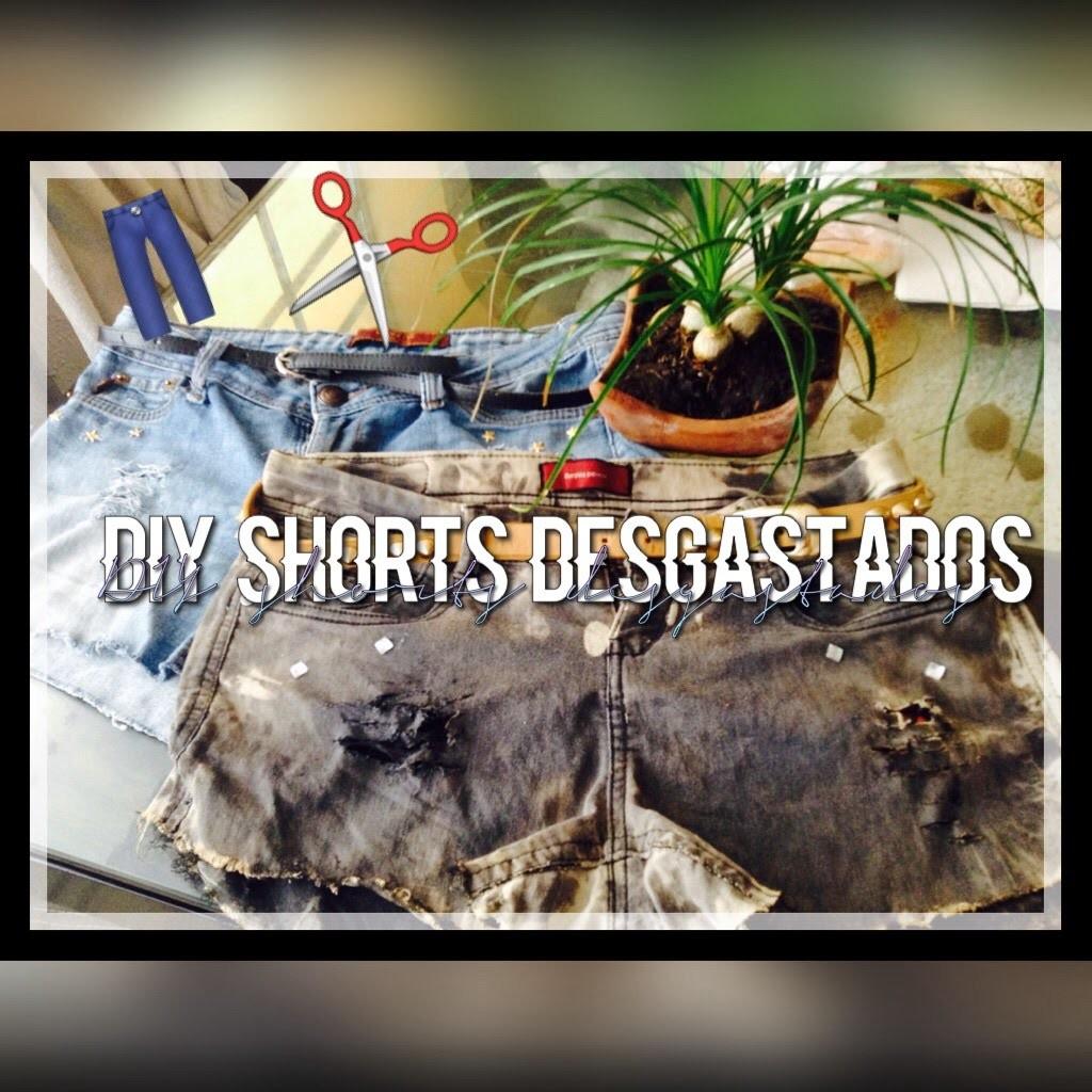 DIY-Shorts desgastados