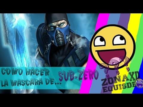 """¡Como hacer la mascara de """"SUB-ZERO"""" sin gastar mucho!!! (DIY) ZXD*"""