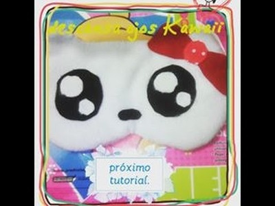 DIY-antifaz o descansa ojos hello kitty (kawaii)