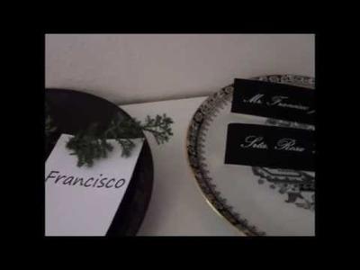 DIY Etiquetas eventos (bodas, bautizos, comuniones) decoración mesa