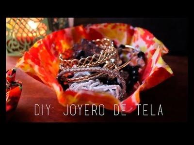 DIY JOYERO.ORGANIZADOR HECHO DE TELA - SUPER FÁCIL ♡