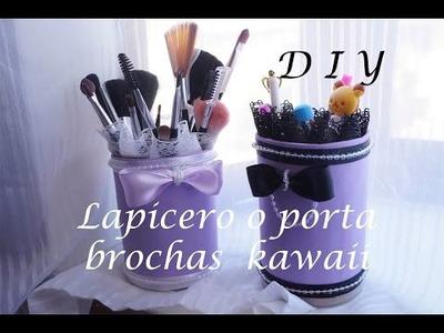#DIY  ~ Lapicero o porta brochas . Super fácil perfecto para regalo