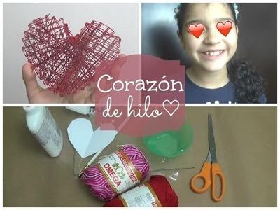 DIY: Corazón de hilo!