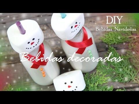 DIY ideas Decora tus Bebidas Christmas Navidad. M