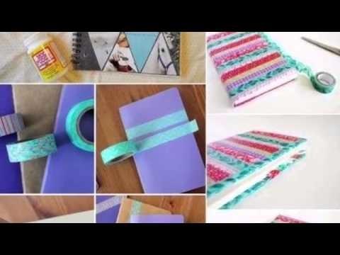 """DIY: ideas para el regreso a clases """" como decorar nuestros útiles escolares"""""""