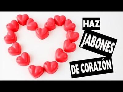 DIY | JABONES DE CORAZÓN EN 5 MINUTOS - Manualidades fáciles