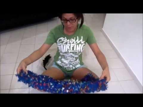 Tutorial como hacer una alfombra de trapitos