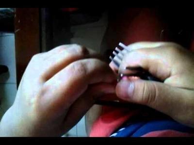 Tutorial de como  hacer una flor con dos tenedores