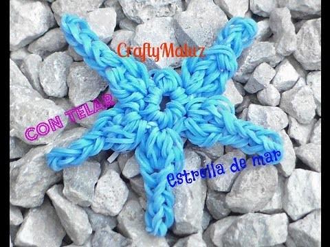Tutorial Estrella de Mar De Gomitas. Rainboow Loom Starfish