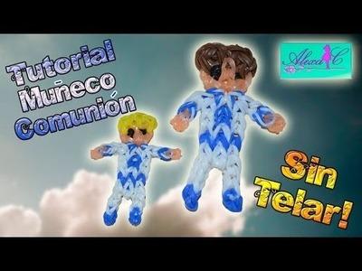 ♥ Tutorial: Muñeco de comunión de gomitas (sin telar) ♥