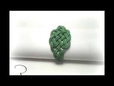 Tutorial para hacer una pulsera de nudos celtas