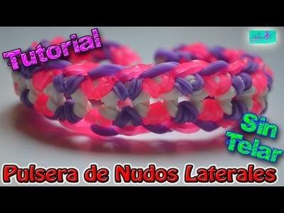 ♥ Tutorial: Pulsera Nudos Laterales (sin telar) ♥