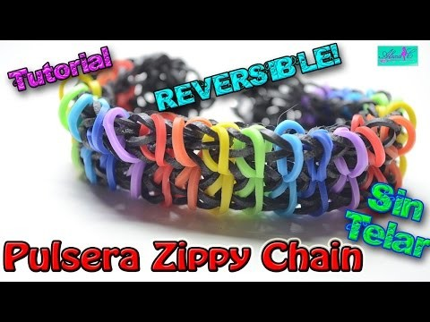 ♥ Tutorial: Pulsera Reversible Zippy Chain de gomitas (sin telar) ♥