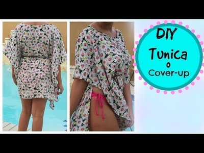 Como hacer Tunica. DIY swimsuit coverup