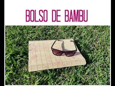 DIY bolso de bambu con cartón