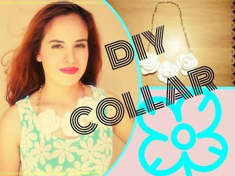 DIY collar de flores (fieltro)