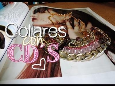 Diy: Collares reciclados con CD´S! - twomake