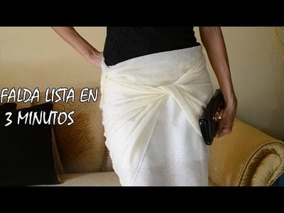 DIY - COSTURA FÁCIL - LINDA FALDA  EN 3 MINUTOS