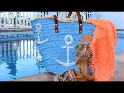 DIY: CUSTOMIZAR UN CAPAZO O CESTA DE PLAYA