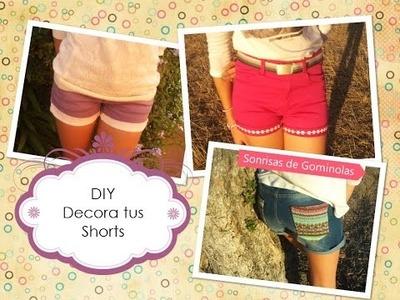 ✧DIY: Decora tus Shorts (Fácil, Divertido, Casero) SG