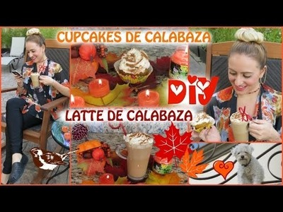DIY LATTE DE CALABAZA Y CUPCAKES DE PAY DE CALABAZA!!!