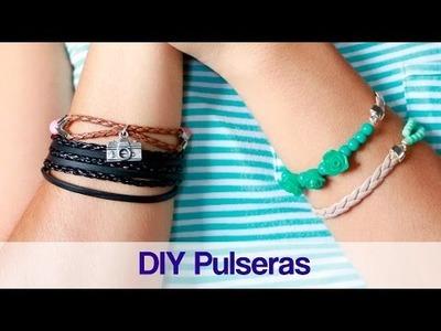 DIY Puseras con cordón y cuentas