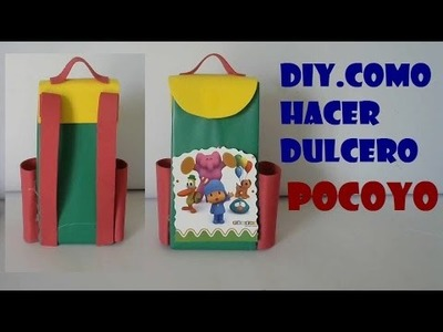 DIY.TRANSFORMA TUS CARTONES DE LECHE EN DULCERO MOCHILA DE POCOYO