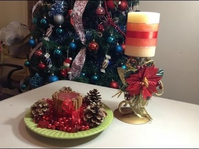 Diy velas decorativas para Navidad.Chritsmas Decorative candle.by Itzomex