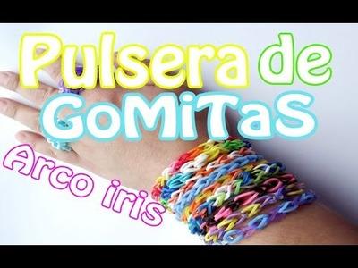 Tutorial: ♥ Pulsera de gomitas Arco Iris ♥ (sin telar)