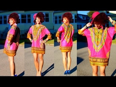 Como Hacer un DIY Vestido Dashiki en 7 min| DIY Ropas