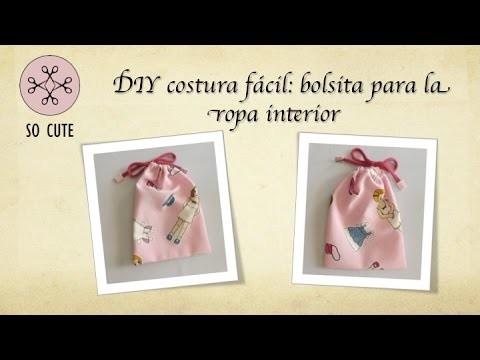 DIY costura fácil: bolsa para ropa interior