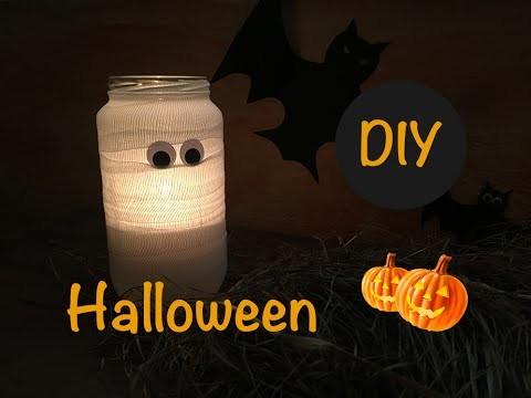 DIY Halloween Jarrón momia