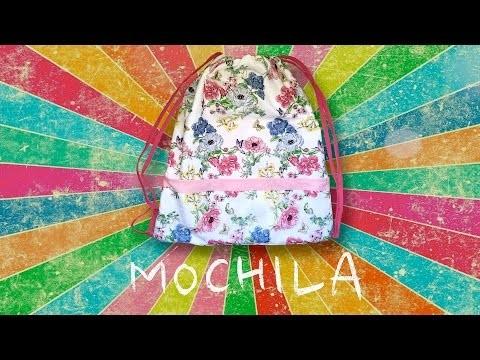 DIY - Mochila con 2 paños de cocina