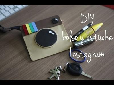 Manualidad Bolso Estuche de Instagram!! DIY Sin coser!! Regreso clases ♥ logo emoticon lapicera