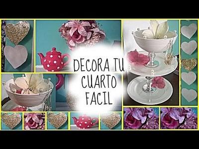 ♥DIY DECORA TU CUARTO MUY BONITO Y FACIL. Belita ♥