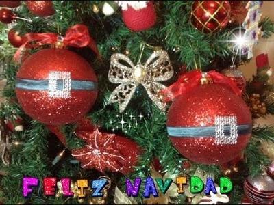Diy Esfera de Santa Claus Reciclada.Ornamento Para pino de Navidad.By Itzomex
